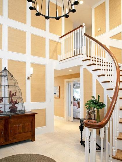 Beach Style Staircase by Terrat Elms Interior Design