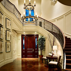 Mediterranean Staircase by Marc-Michaels Interior Design