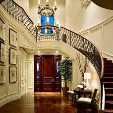 Mediterranean Staircase by Marc-Michaels Interior Design