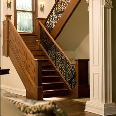 Rustic Staircase by Avondale Custom Homes