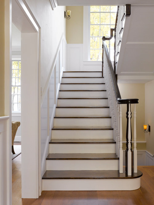 U shape type staircase design ideas remodels photos for Type of stairs in house