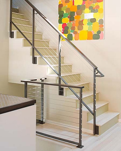 modern staircase by Sharon Portnoy Design