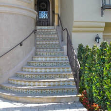 Mediterranean Staircase by Tile Visions