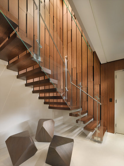 modern staircase by Winder Gibson Architects