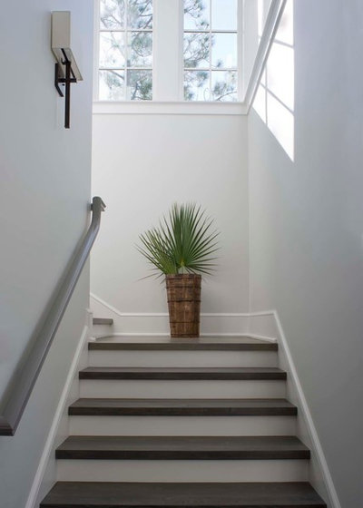 Beach Style Staircase by Wayne Windham Architect, P.A.