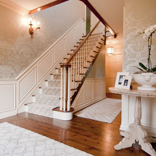 Traditional Staircase by Mary Best Designs