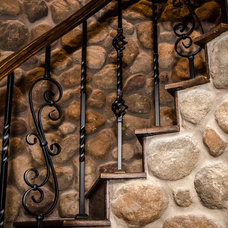 Eclectic Staircase by Kitty Raulston-Thomas Interior Designs
