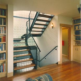 Inspiration för en eklektisk trappa
