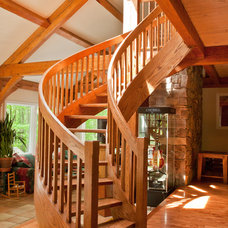 Contemporary Staircase by Slabaugh Custom Stairs, Ltd
