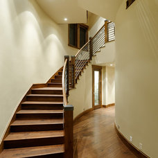 Eclectic Staircase by David Johnston Architects