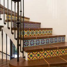 Mediterranean Staircase by Charles A. Samson, Architect