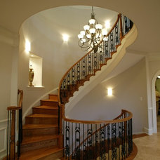 Traditional Staircase by A.R.Design Group,Inc.