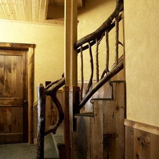 Meadowlark Lane Residence Hand Railing Hand-made of Driftwood 2