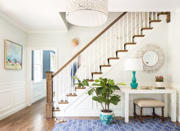 Transitional Staircase by Jamie Keskin Design