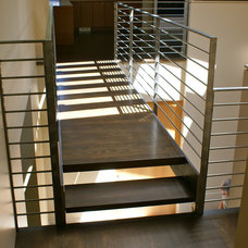 Contemporary Staircase by Jeff Luth - Soldano Luth Architects