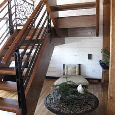Modern Staircase Meditation Space