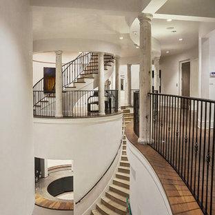 Staircase - mediterranean staircase idea in Houston