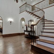 Mediterranean Staircase by Bauhaus Custom Homes