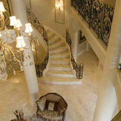 mediterranean staircase by Nitti Development