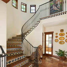Mediterranean Staircase by Phillip Jennings Custom Homes