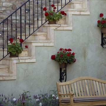 Mediterranean Stone Stairway