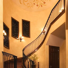 Mediterranean Staircase by Russell Eppright Custom Homes