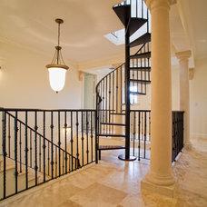 Mediterranean Staircase by RAR Architect Inc.