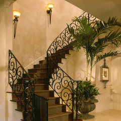 mediterranean staircase by Creative Touch Interiors