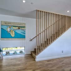 Midcentury Staircase by Surfside Projects LLC