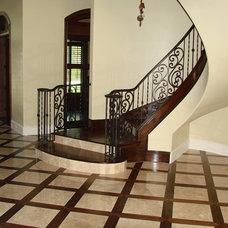 Mediterranean Staircase by Jeffrey Harrington Homes