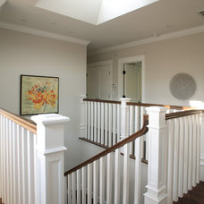 Traditional Staircase by Allwood Construction Inc