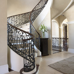 traditional staircase by Martha O'Hara Interiors