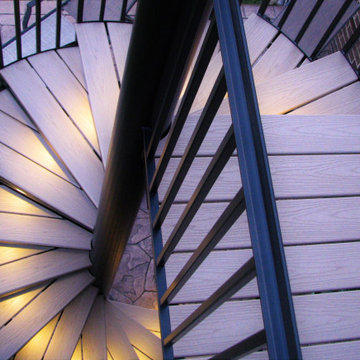 Metal Railing on Spiral Staircase