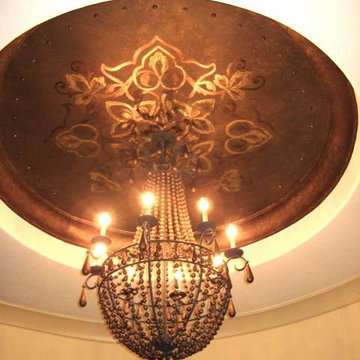 Metallic Recessed Staircase Ceiling