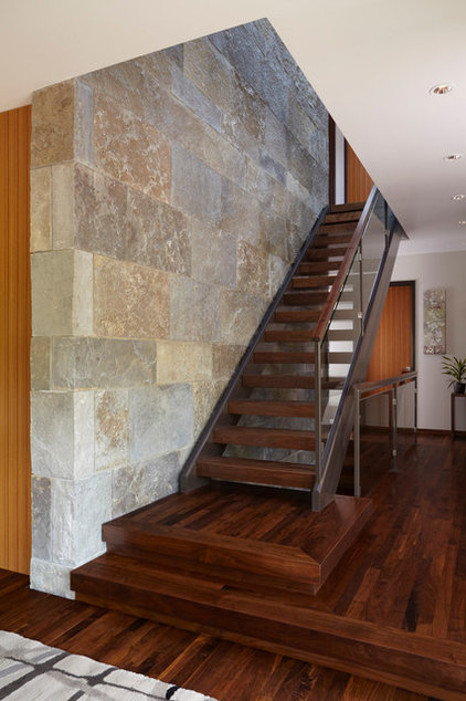 Modern Staircase by Ingrained Wood Studios: The Lab