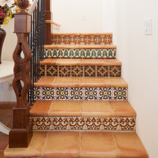 Mediterranean Staircase by Fireclay Tile