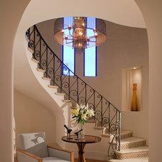 Mediterranean Staircase by Bart Reines Construction
