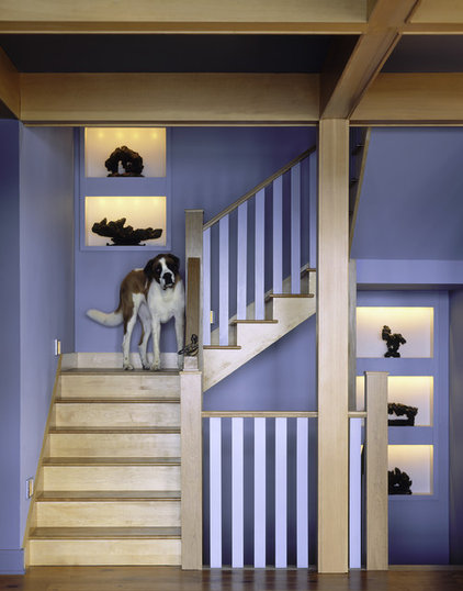 Eclectic Staircase by Michael Minadeo + Partners