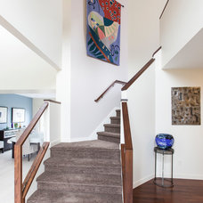 Contemporary Staircase by Forward Design Build