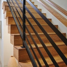 Midcentury Staircase by New Urban Home Builders