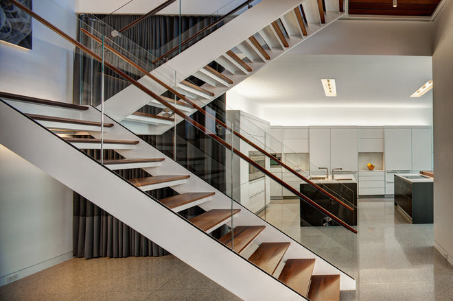 Contemporary Staircase by Vinci | Hamp Architects