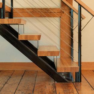 Bild på en lantlig trappa