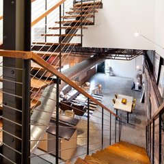 modern staircase by Laura U, Inc.