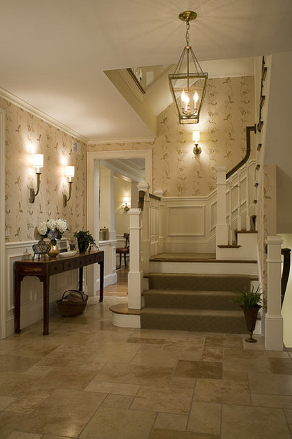 traditional staircase by Duckham Architecture & Interiors