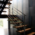 Art Deco Staircase And Entry Modern Staircase Los