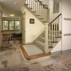 Traditional Staircase by Rob Sanders Architects LLC