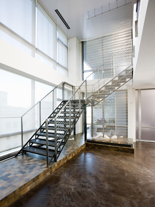 Inspiration For A Contemporary L Shaped Open Staircase Remodel In Seattle