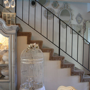 Inspiration for a shabby-chic style staircase remodel in San Francisco