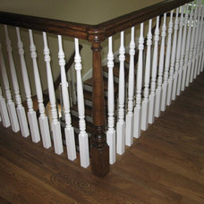 Tropical Staircase by McSpadden Custom Homes