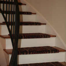 Traditional Staircase by Rick Kelley Builders